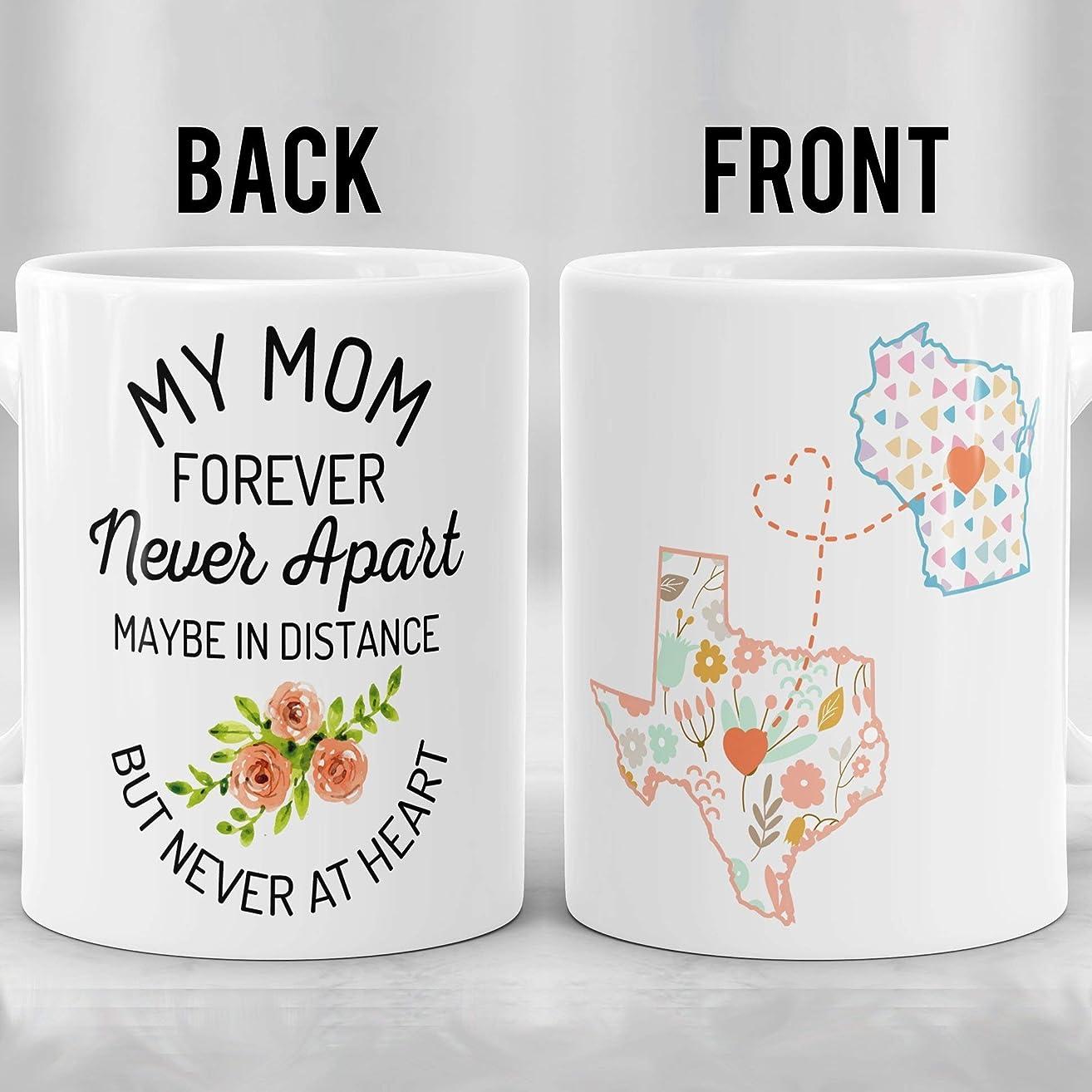 Mom Long Distance Mug, Moving Away Mug, State to State Mug, Connecting States Mug, Mother Mug, Mother's Day Gift, Gift for Mom, Moving Gift