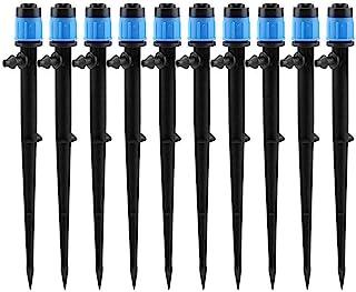 LXcom Irrigation Drippers Drip Emitters Micro Spray Adjustable 360 Degree Full Circle Pattern Water Flow Irrigation Drippe...