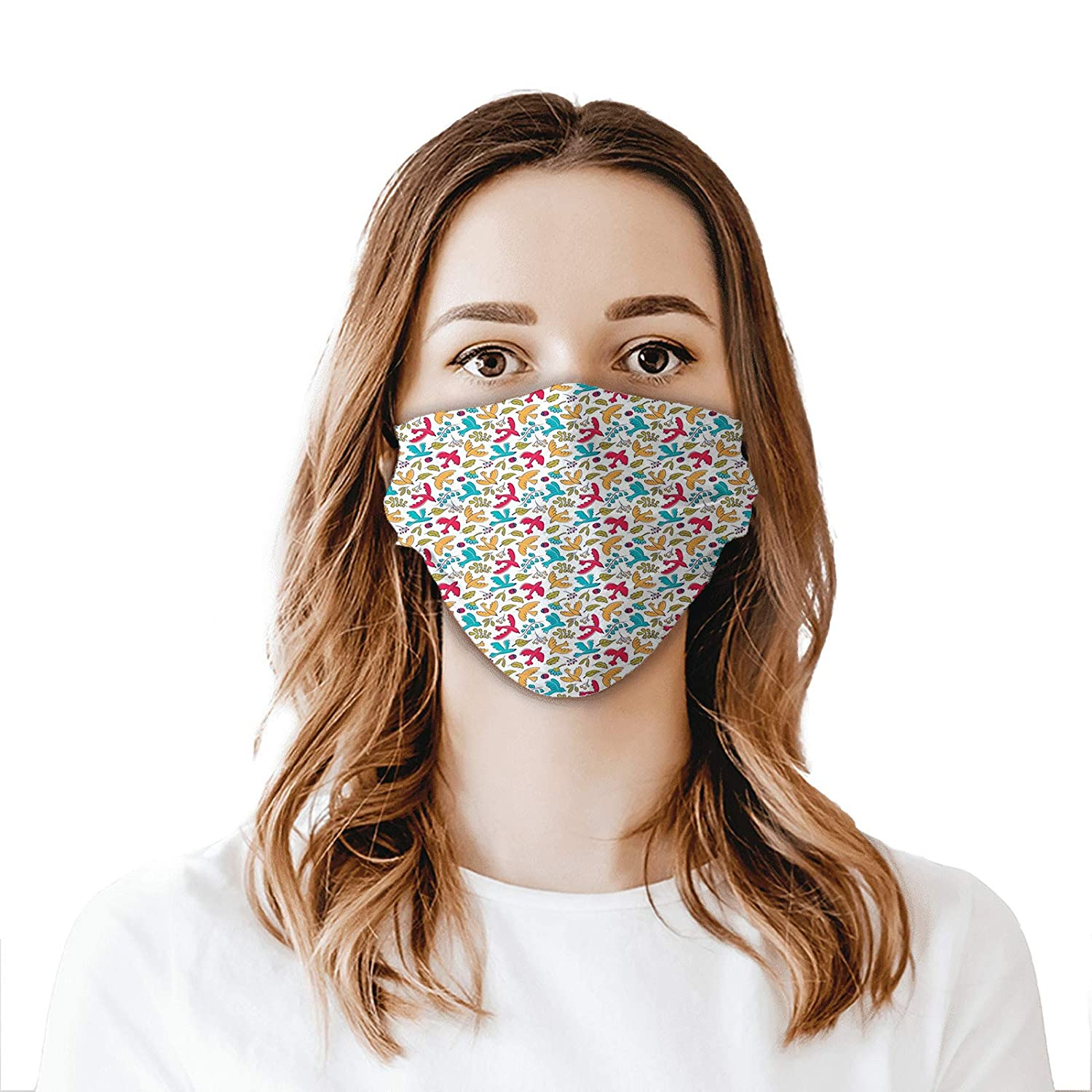 Comfortable Windproof mask Colorado Springs Mall Cheap mail order specialty store Cartoon Style Floral Ladybugs and El
