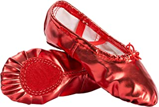 80198a8d9bf6d Amazon.co.uk: Red - Ballet Flats / Girls' Shoes: Shoes & Bags