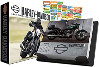 Harley Davidson Motorcycles 2020 Calendar, Box Edition Set - Deluxe 2020 Harley-Davidson Day-at-a-Time Box Calendar with Over 100 Calendar Stickers (HD Gifts, Office Supplies)