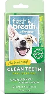 TropiClean Fresh Breath Clean Teeth Gel for Dogs [2-Pack]