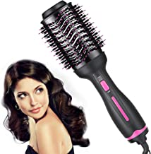 Hair Dryer Brush,Hot Air Brush, Hair Dryer & Volumizer, Styler for Straightening, Curling, 3 IN 1,Salon Negative Ion