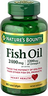 Nature's Bounty Fish Oil 2400 mg Softgels, 90 ea