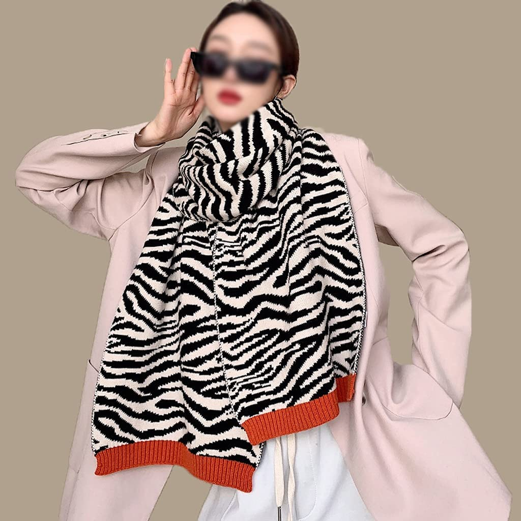 GYZCZX Lady Thick Knitted Very popular! High order Winter Shawl Wr Pashmina Pattern Scarf