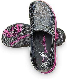 Smitten Women Patent Leather Clog Nursing Shoe-Leopard