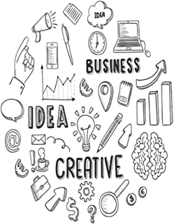 """IDEAS,BUSINESS,CREATIVE: Blank Notebook Journal for more creativity , brainstorming 6"""" X 9"""" 120 pages"""