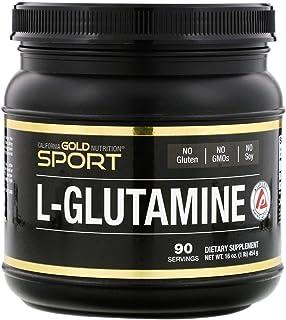 California Gold Nutrition, L-Glutamine Powder, AjiPure, 16 oz (454 g), Milk-Free, Egg-Free, Fish Free, Gluten-Free, No Art...