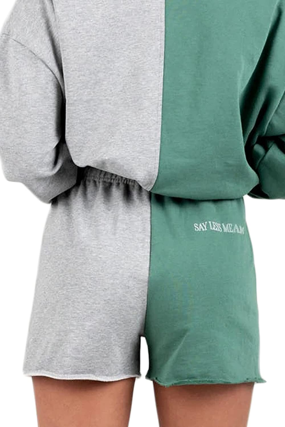 The Mayfair Group Women's Say Less Mean More Soft Two-Tone Sweat