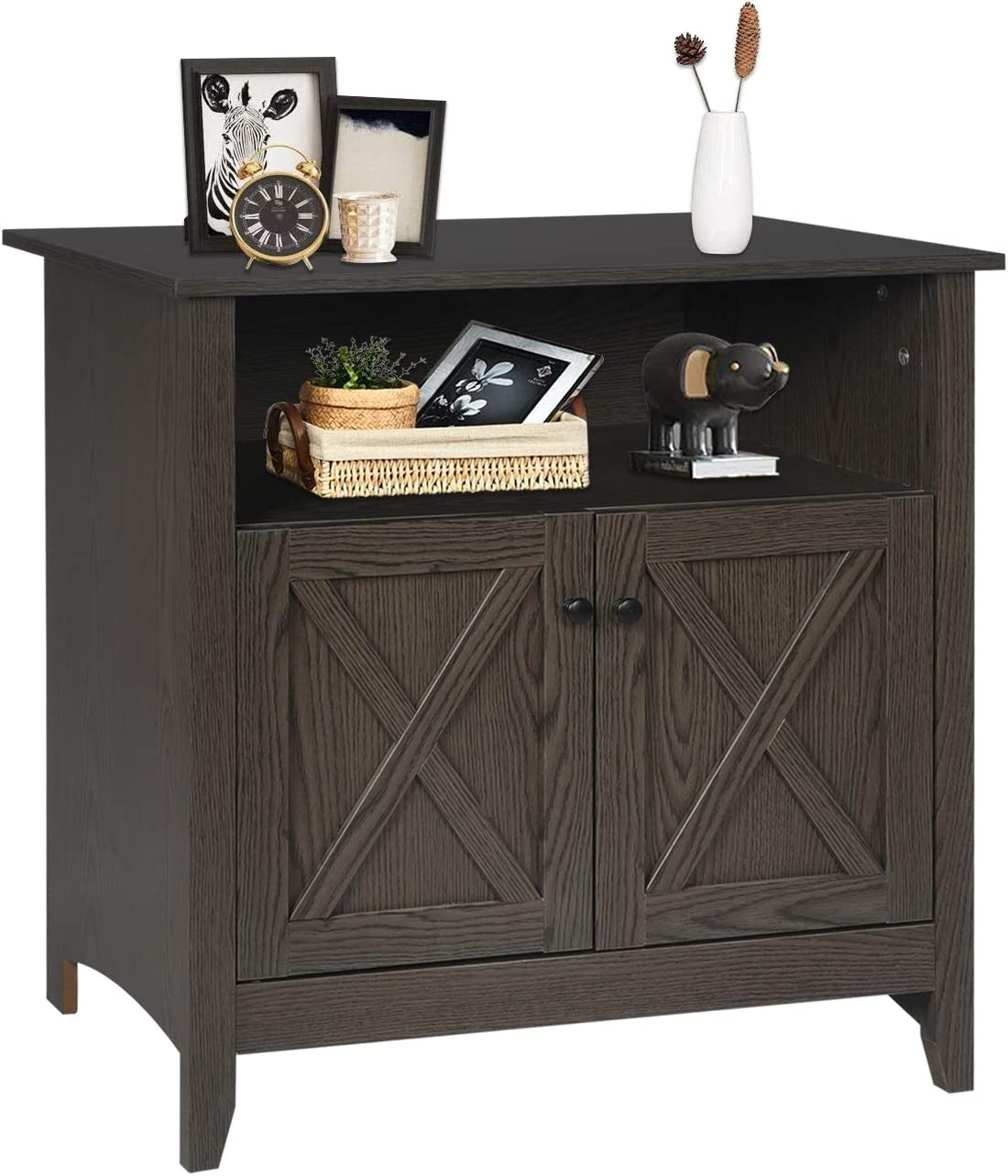 SGHB Accent Cabinet with Spring new work Adjustable Doors Sideboard 2021new shipping free shipping Storage