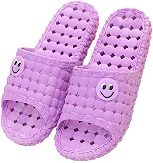 Smile Shower Sandal Slippers Comfortable Beach Hotel Quick Drying for Female Purple