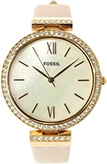 Fossil Women's Quartz Watch analog Display and Leather Strap, ES4537