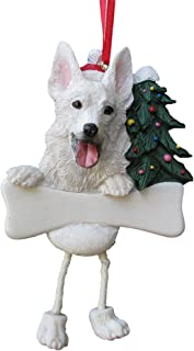 German Shepherd Ornament White with Unique
