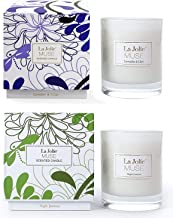 Soy Scented Candle Set, Aromatherapy Mothers Day Candles Gift, Lavender & Jasmine, 8.1 OZ Each
