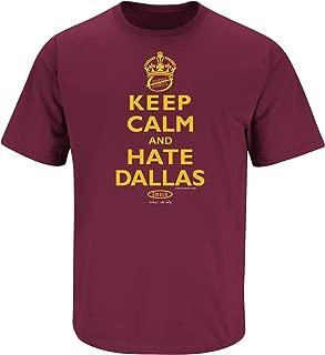 Washington Football Fans. Keep Calm and Hate Dallas Maroon T-Shirt (Sm-5X)
