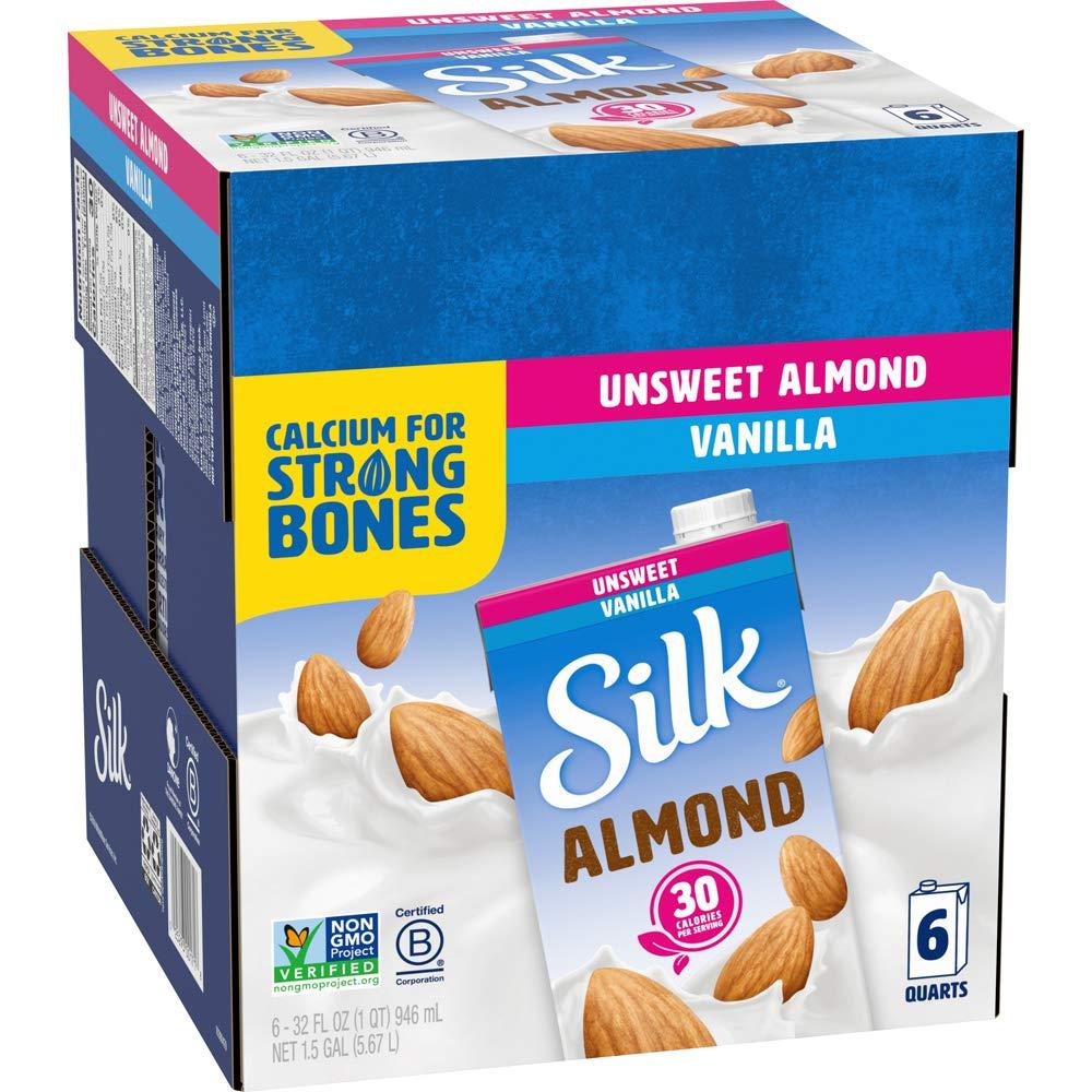 Silk List price Almond Milk Unsweetened Vanilla 32 of Pack Popular brand Ounce 6 Fluid
