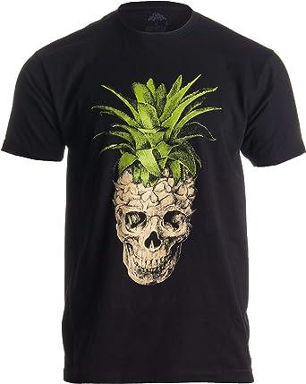 Ann Arbor T-shirt Co. Diseño Extravagante de Calavera con piña - Camiseta para Hombre -