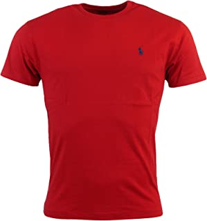 Men's Crew Neck Embroidered Pony Short Sleeve T-Shirt