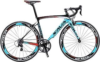 comprar comparacion SAVA Bicicleta de Carretera de Carbono, Bicicleta de Carretera Warwinds5.0 700C de Fibra de Carbono con Sistema de Cambio ...