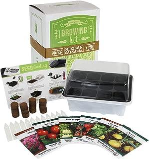 Salad & Vegetable Garden Seed Starter Kit | Basic | 6 Non-GMO Varieties | Gardening Starter Kit | Seeds: Mixed Lettuce Greens, Radish, Carrot, Tomato, Cabbage & More