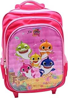 School bag with wheels 3 pieces backpack for school 14 inch unisex kids