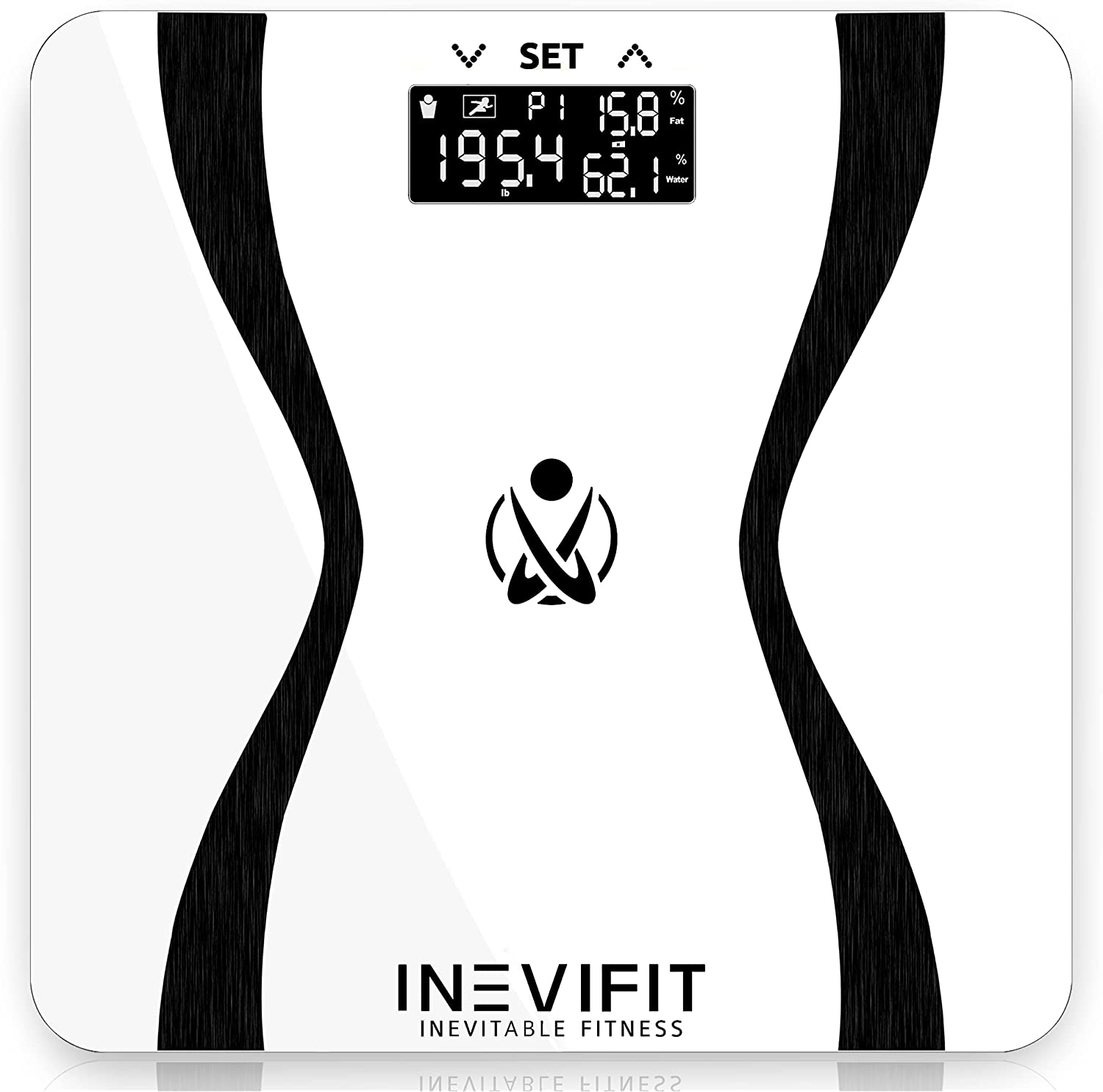 INEVIFIT Body-Analyzer Scale, Highly Accurate Digital Bathroom Body Composition Analyzer, Measures Weight, Body Fat, Water, Muscle & Bone Mass for 10 Users. Includes Batteries: Health & Personal Care