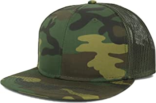 Armycrew Oversize XXL Blank Camouflage Flatbill Mesh Snapback Cap