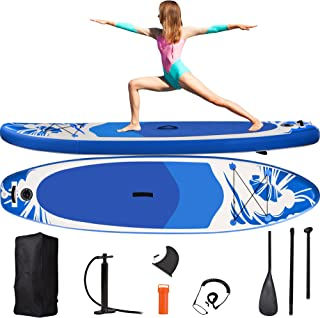 Merax Inflatable Stand Up Paddle Board, Portable SUP Board with All SUP Accessories Pump Paddle Backpack Leash for Youth &...