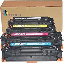 JC Toner Compatible for 304A CC530A CC531A CC532A CC533A Toner Cartridges for use with Color LaserJet CP2025 CP2025dn;imageCLASS MF726Cdw LBP7660Cdn MF8350Cdn (Black Cyan Yellow Magenta)