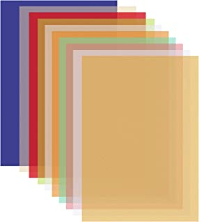 Ruisita 40 Sheets 10 Colors Vellum Paper 8.5 x 11 Inches Colored Paper Translucent Sketching Paper Tracing Paper for Printing, Scrapbook Pages, Invitations, Crafts, Cards (Multicolor A)