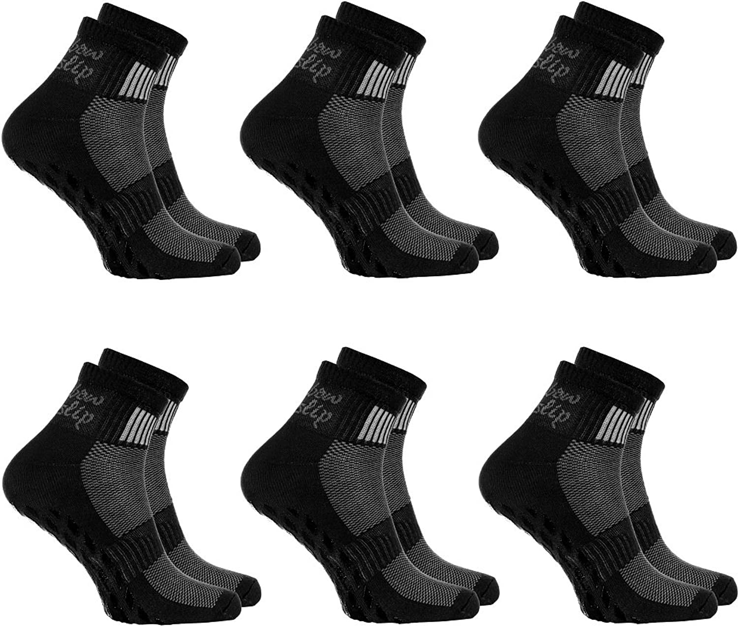 2,4,or 6 pairs of Black Nonslip Socks ABS, Sports  Yoga, Pilates, all sizes