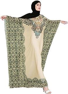 b67556d6d21 Fiaya Muslim Dubai Kaftan Dress Women Printing Easy Islamic Clothing Abaya  Rayon Gown Middle East Long