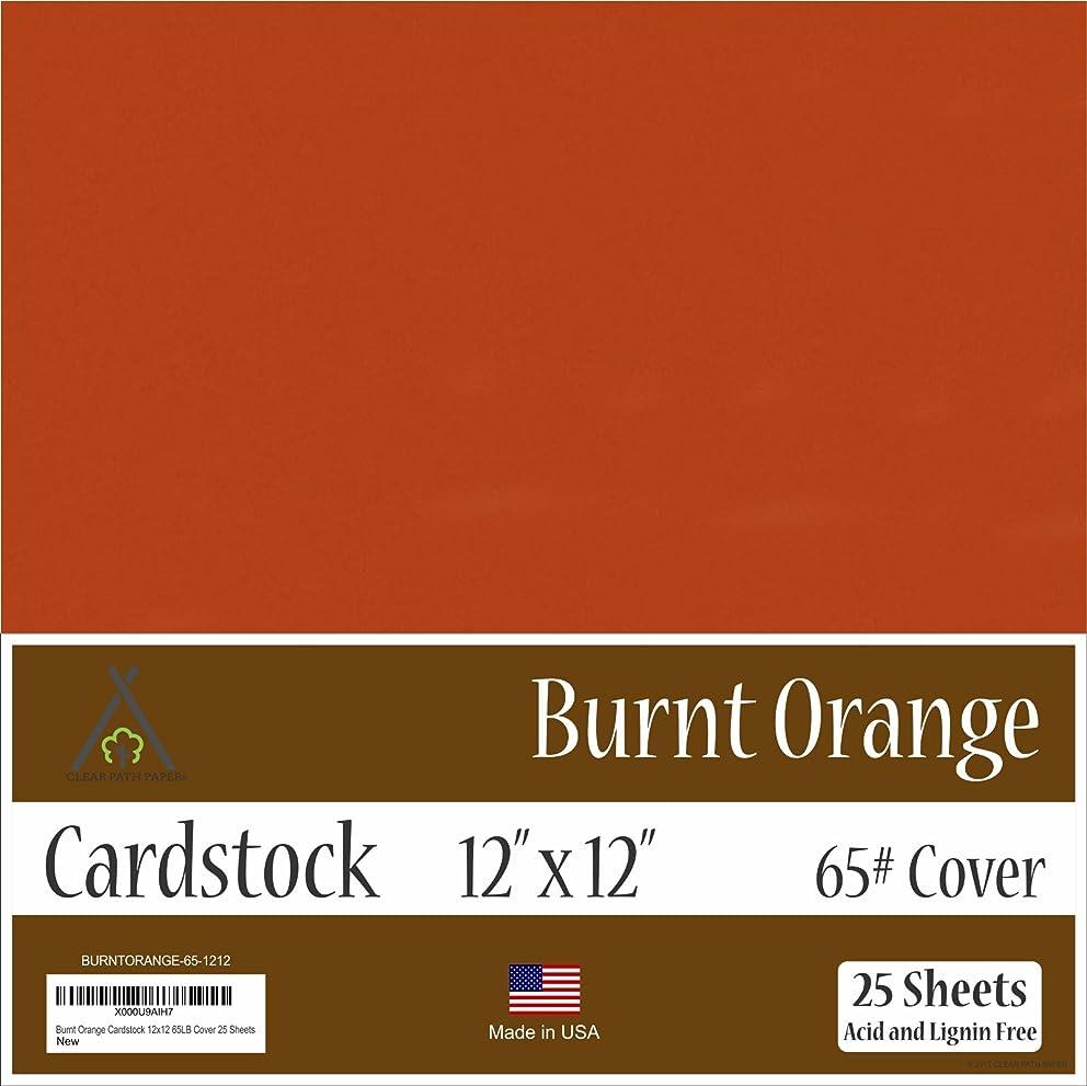 Burnt Orange Cardstock - 12 x 12 inch - 65Lb Cover - 25 Sheets