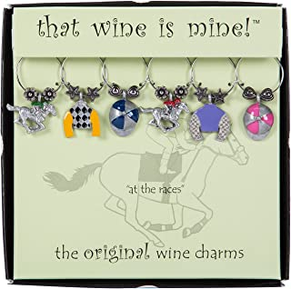 kentucky derby wine charms
