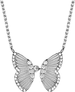 Elegant Jewelry, 925 Sterling Silver Butterfly Necklace,...