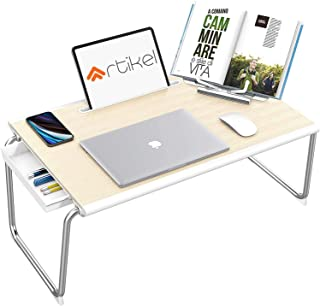 Artikel Grande XXL Multi-Purpose Laptop Table | Storage Drawer, Book Stand with Dock | Bed Table | Foldable and Portable |...