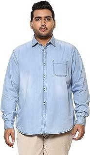 JOHN PRIDE Men Light Blue Coloured Shirt (Sizes: 3XL- 6XL)
