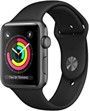 Apple Watch Series 3 (GPS, 38MM) - Space Gray Aluminum Case with Gray Sport Band (Renewed)