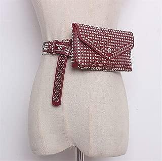 YWSCXMY-AU Fashion Rivet Pockets Women's Adjustable Pockets Mobile Phone Purse Wallet (Color : Burgundy)