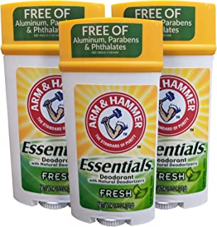 Arm & Hammer Deodorant 2.5oz Essentials Fresh (Pack of 3)