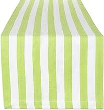 DII 100% Cotton Cabana Stripe Tropical Table Runner, 13x72