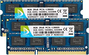 DUOMEIQI 16GB Kit (2X8GB) DDR3L 1600MHz SODIMM RAM PC3L-12800, PC3L-12800S for Intel AMD Laptop, MacBook Pro Mid 2012, iMac Late 2012/ Early/Late 2013, Late 2012/2013, Retina 5K Display, Mac Mini