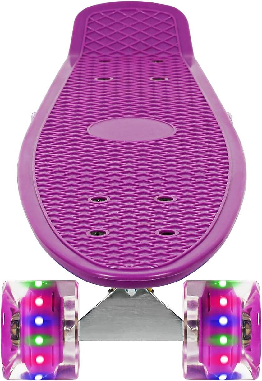 JOLEGE Mini Cruiser High quality new Complete Skateboard 22 Plastic Inch Reservation Skateb