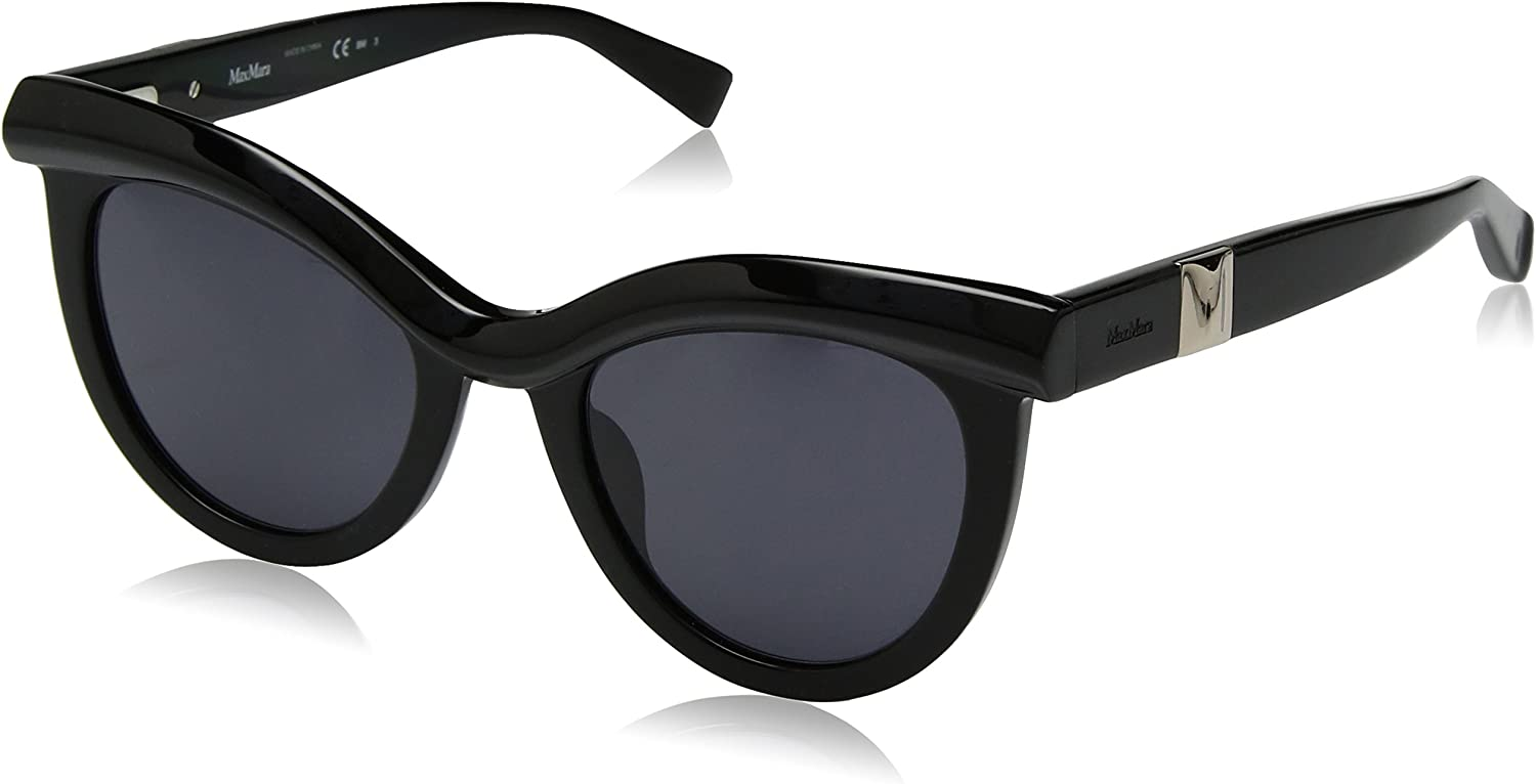 Max Mara Women's Mm Grace Polarized Rectangular Sunglasses BLACK 51 mm