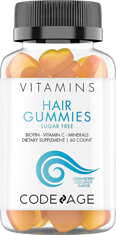 Hair Gummies Biotin 5000 mcg Vitamins Cheap mail order specialty store Sugar Growth excellence Free Gummy