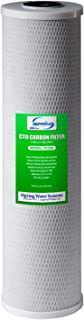 iSpring FC25B High Capacity Big Blue Whole House Water Filter CTO Carbon Block, 4.5