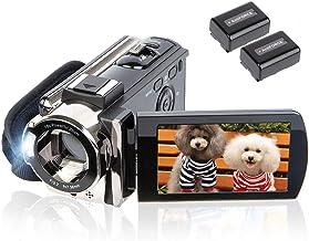 Video Camera Camcorder Digital Camera Recorder kicteck Full HD 1080P 15FPS 24MP 3.0 Inch 270 Degree Rotation LCD 16X Zoom ...