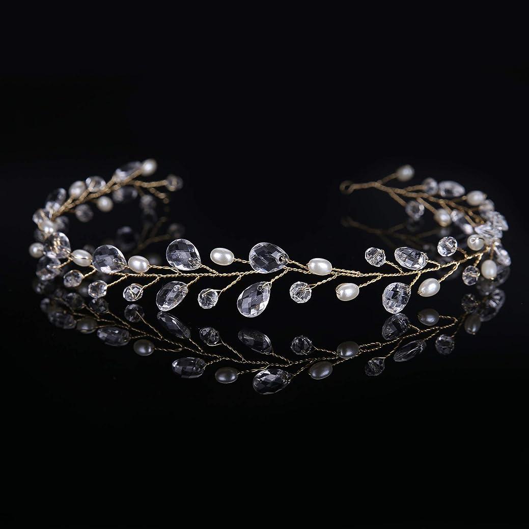 まばたき王室友情HuaQingPiJu-JP ヘアピン花嫁ヘアクリップ女性のヘッドバンドファッションアクセサリー(ゴールド)