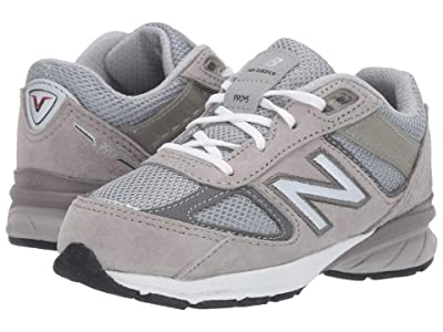 New Balance Kids 990v5 Launch (Infant/Toddler) (Grey) Kids Shoes