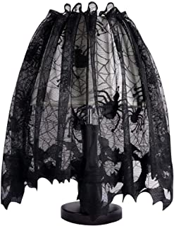 Lulu Home Halloween Lampshade Cover, Window Door Fireplace Scarf Cover with Spider and Bat, Halloween Party Decoration